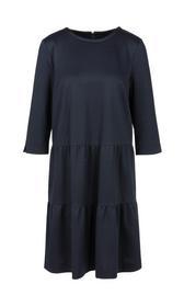 Jerseykleid mit Stufenvolants
