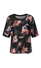 Blusenshirt mit Bungalow-Print