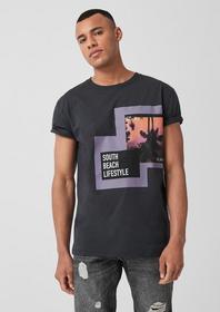 T-Shirt kurzarm, black grey