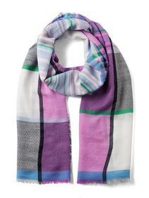 my structure stripe mix scarf