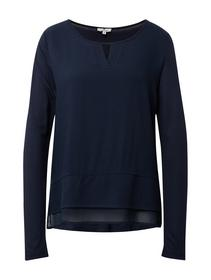 T-shirt fabric mix blouse