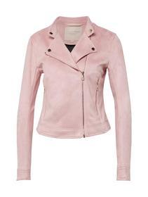 pu-suede biker jacket