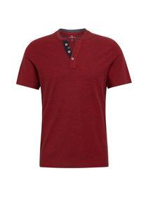 basic yd henley - 16149/brilliant red navy yd str