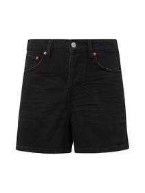 a-shape highwaist denim shorts - 10264/dark stone