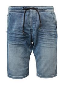 blue sweat denim shorts