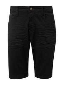 regular fit color denim shorts