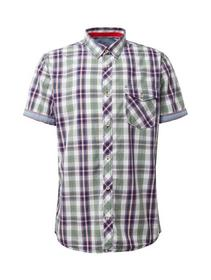 ray peached check - 16895/olive blue colorful chec