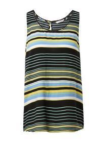 printed sleeveless blouse