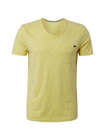 T-shirt with pocket - 17688/daffodil yellow melang