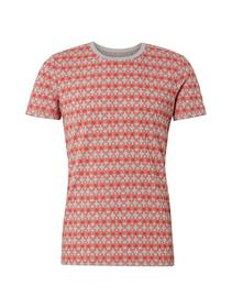 T-shirt with alloverprint - 18285/red geometrical