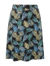 easy printed jersey skirt