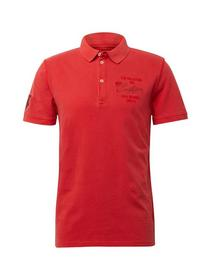 overdyed decorated polo - 13189/Basic Red