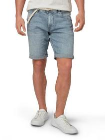 regular denim shorts with belt