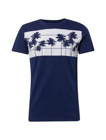 mit breitem Palmen-Print auf der Brust