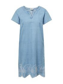 dress tencel embroidered hem