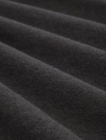basic v neck sweater - 10617/Black Grey Melange