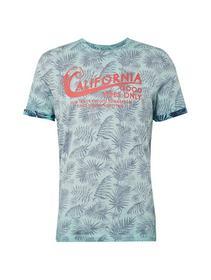 overdyed palm print t-shirt