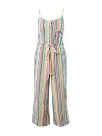striped jumpsuit cropped