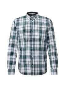 ray slub check shirt - 18988/green white check