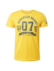 crewneck T-shirt with print - 11189/Vivid Yellow
