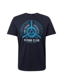 t-shirt with print - 10668/Sky Captain Blue