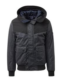 hooded winter blouson