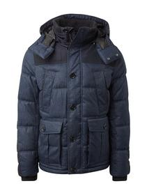 padded jacket with mat mix