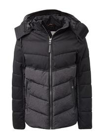puffer jacket with hood - 19079/grey