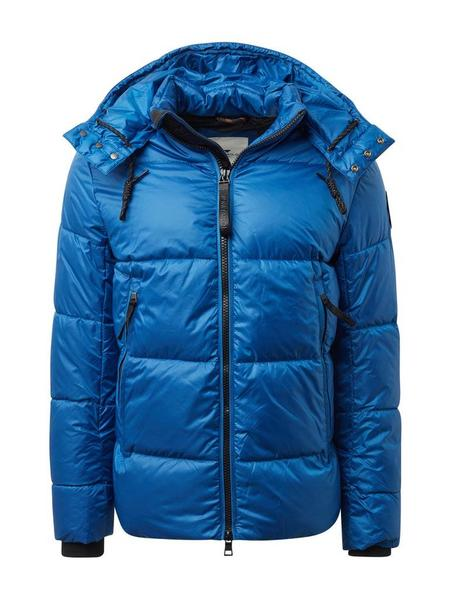 heavy puffer jacket with hood - 10407/Arctic Sea B
