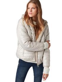 cosy lightweight puffer jacket - 18472/silver grey