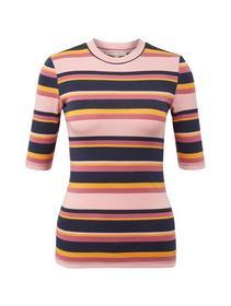 multicolor stripe tee - 19302/multicolor stripe