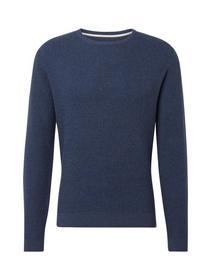 modern basic structure sweater - 20455/navy blue d