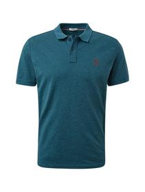 grindle polo with small embro - 19471/dark teal gr