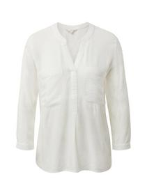 solid henley tunic - 10332/Off White