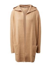 cardigan with hood - 18804/camel melange