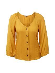 button-down puff sleeve blouse - 10744/Sunflower