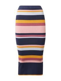 knitted tube skirt - 42102/multicolor stripe