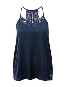camisole top with lace back - 10360/Real Navy Blue