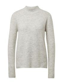 mock neck pullover - 10396/Marble Beige Melange