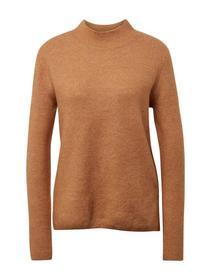 mock neck pullover - 18804/camel melange