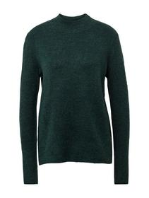 mock neck pullover - 10592/Midnight Forest Green M