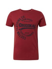 NOS T-shirt with print - 10408/Father's Pipe Red