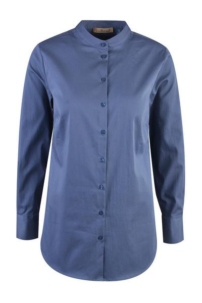 STAND COLLAR COTTON BLOUSE