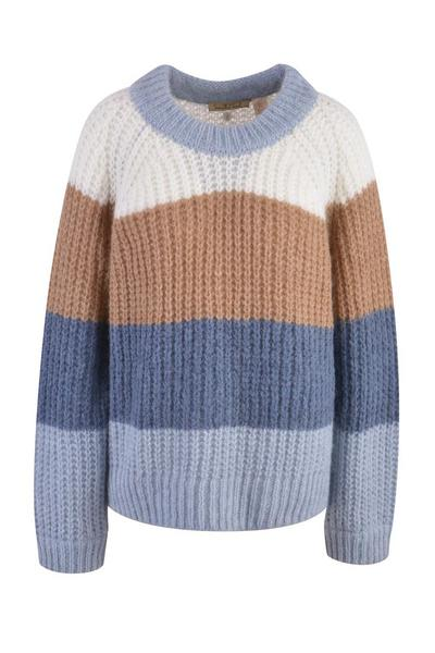 Striped Hairy Pullover