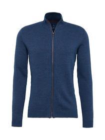 basic zip jacket Knit Stand-Up