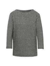 Sweatshirt mit Hahnentritt-Muster