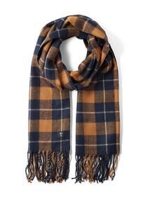 woven scarf check