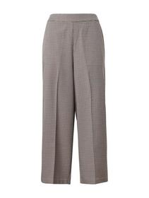 Checked culotte pants - 19668/beige small check