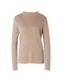 sweater double  stand up - 16569/cashew beige mela