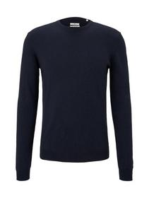 cosy cashmere blend sweater - 13160/Knitted Navy M